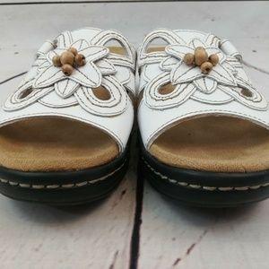 Clarks Collection Beaded Comfort Sandals Slides